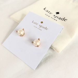 Kate Spade 14k Plated Gold Pearl Earrings